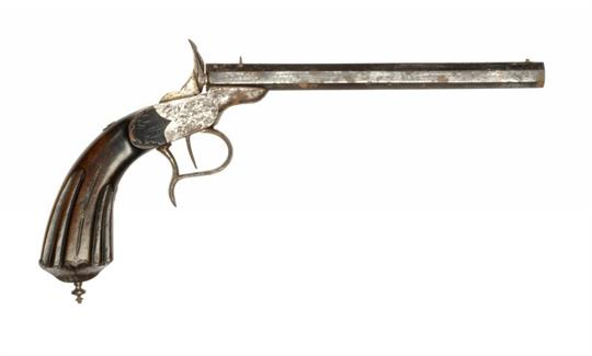 A CONTINENTAL RIMFIRE FLOBERT PATENT SALOON PISTOL with