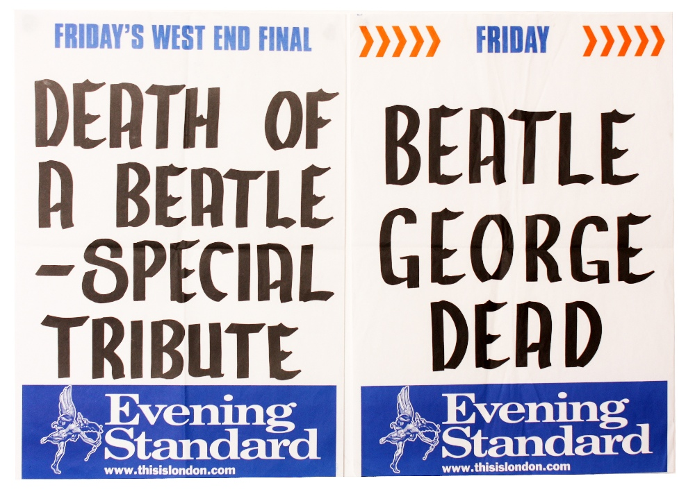 Music Posters The Beatles George Harrison Two Evening Standard