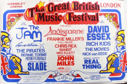 Music Posters: Original UK concert poster for the `Great