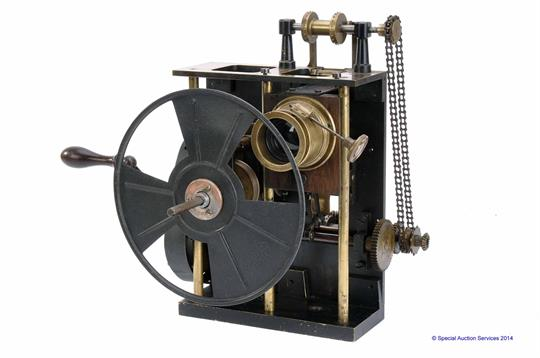 An Early Pathe 35mm Hand Crank Projector Mechanism, serial