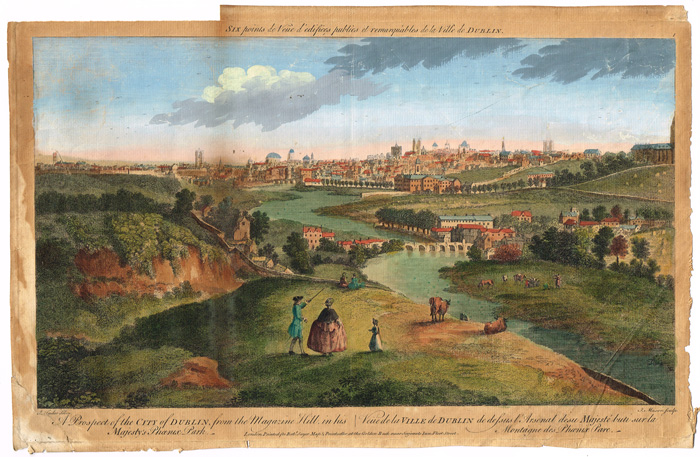 Lot 17 - 1753: `A Prospect of the City of Dublin from the Magazine Hill in his Majesty`s Phoenix Park`