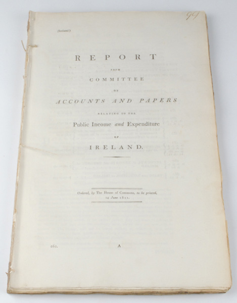Lot 38 - 1811: Reports from Commitee on Accounts and Papers Relating to the Public Income and Expenditure