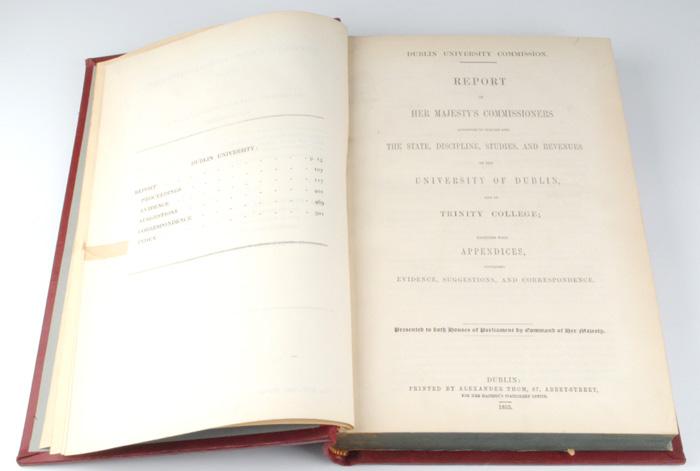 Lot 48 - 1853: Dublin University Commission ReportDublin University Commission Report of Her Majesty`s