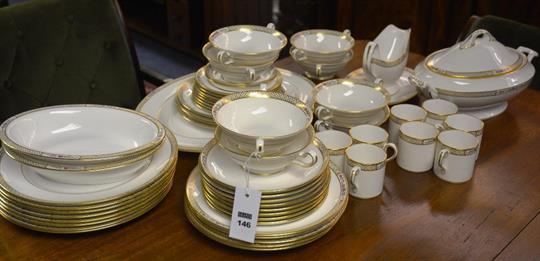 Spode Bone China Golden Trellis dinner service together with
