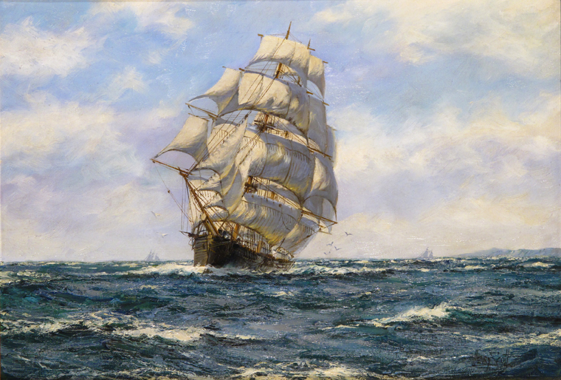 Lot 310 - ‡Henry Scott (1911-1966) British Tea Clipper, Crest of the Wave, built 1853 Signed Oil on canvas