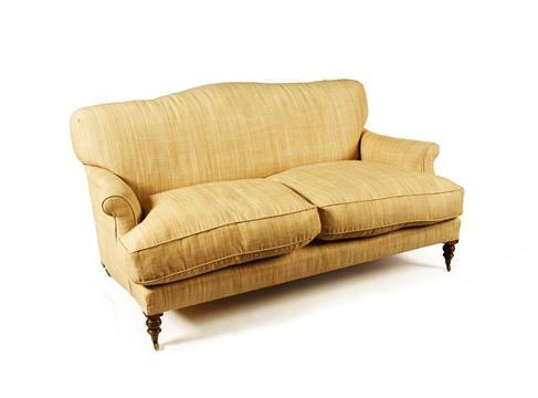 beech framed two seater sofa by george sherlock 20th century the rh the saleroom com Smith Sofas Smith Sofas