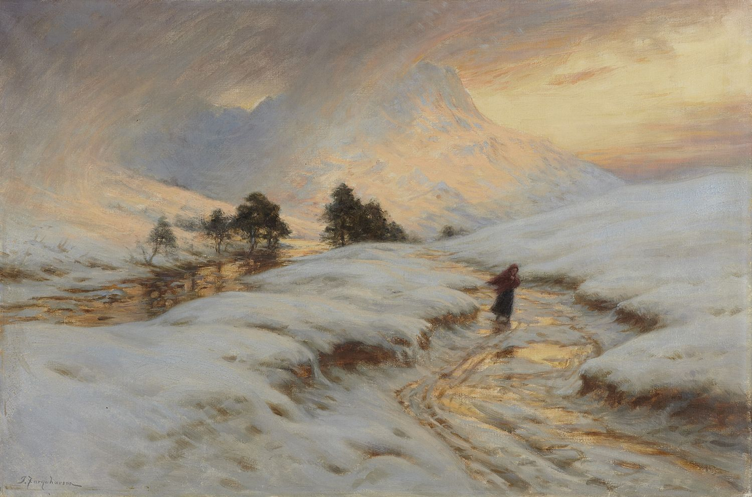 Joseph farquharson r a scottish 1846 1935 homeward bound for Oil paintings for sale amazon