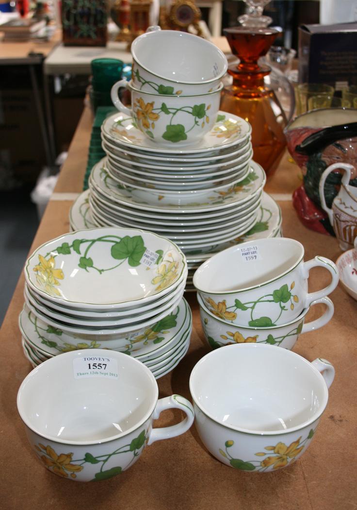 affordable lot a villeroy u boch geranium pattern part tea and dinner  service with villeroy boch servant