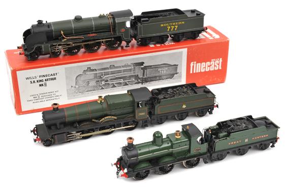 Lot 340 - 3 OO kit built tender locomotives. Wills Finecast King Arthur class 4-6-0 locomotive, ?Sir Lamiel?