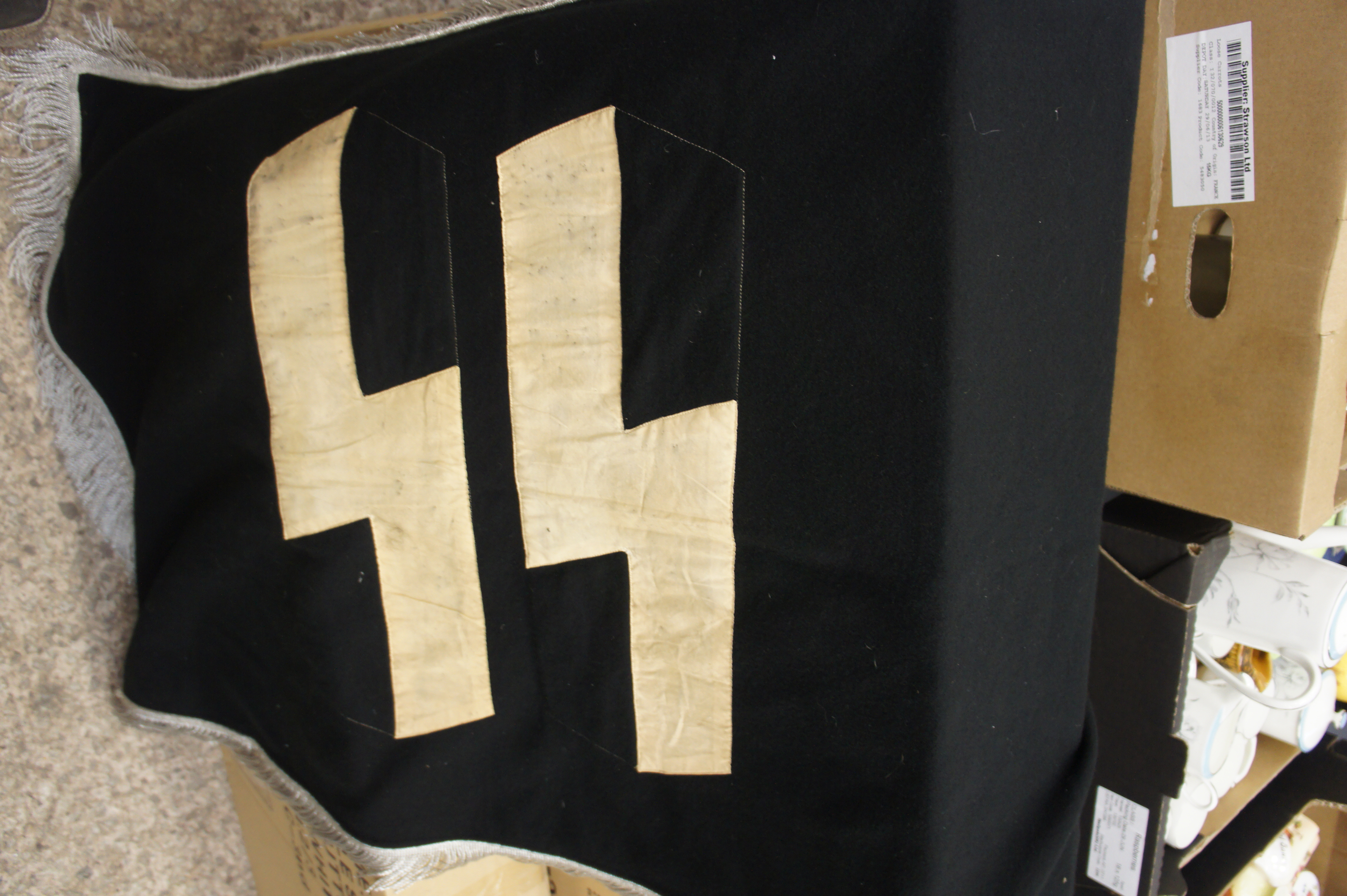US GI German SS Flag Marked LOH and Lager FL 80x135 Post War
