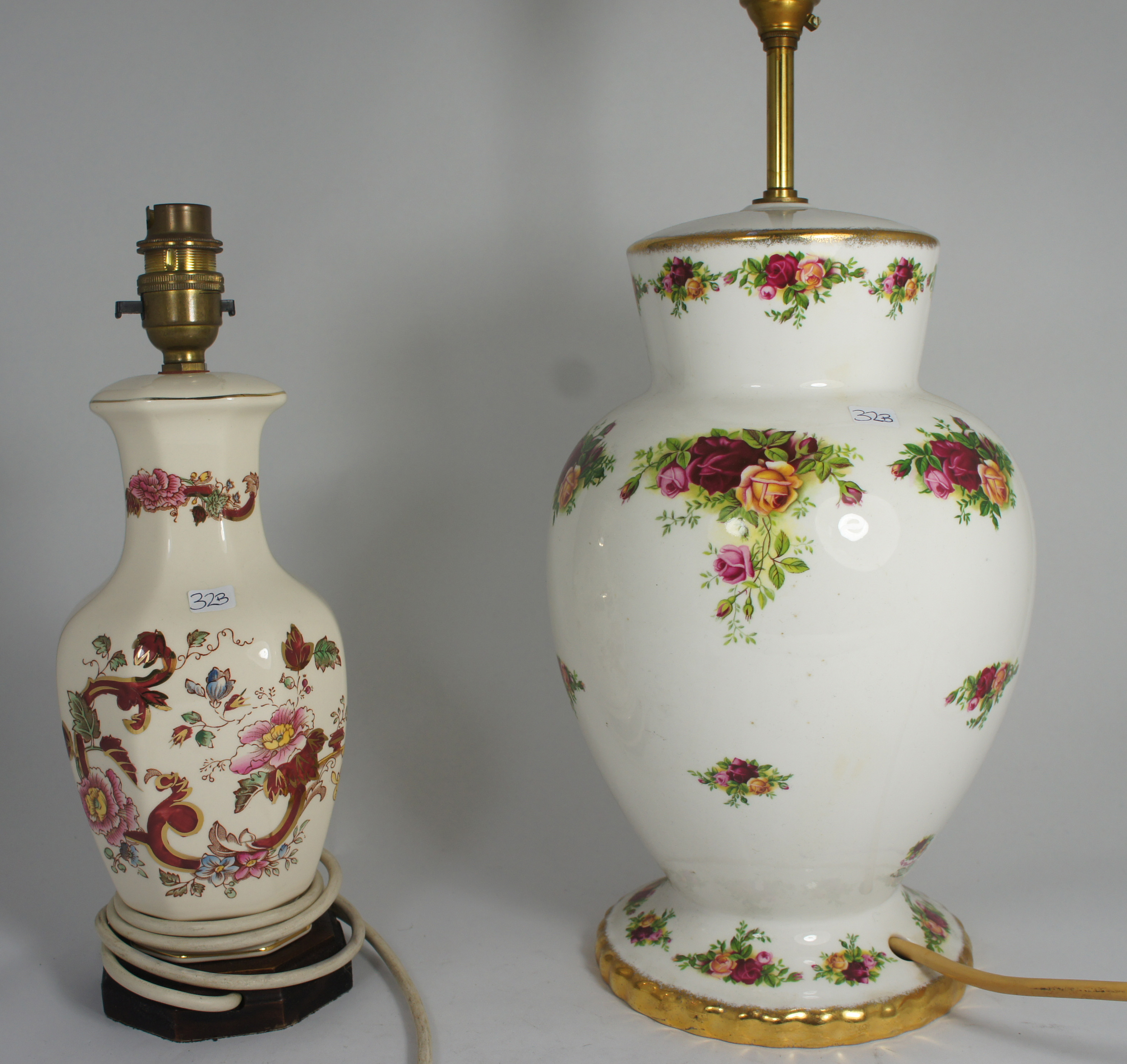 Royal Albert Old Country Rose Table Lamp 40cm And Masons