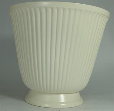 Wedgwood White Ribbed Footed Vase Designed By Norman Wilson Height
