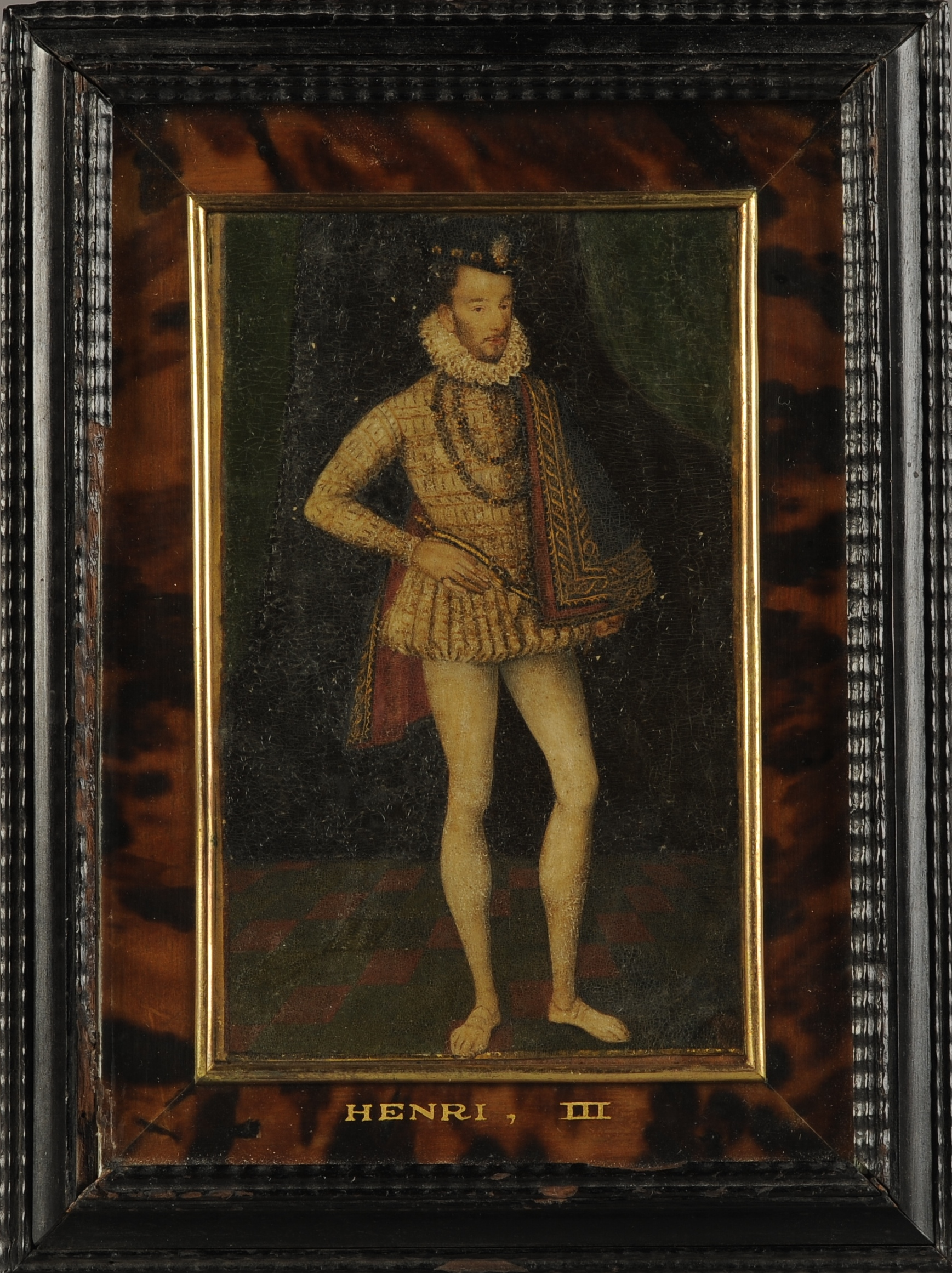 Lot 41 - STUDIO OF FRANCOIS CLOUET (1522-1572) circa 1570, portrait of Henri III, standing full length, in an