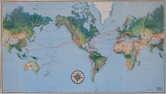 Pan American World Airways Flying Clippers Serve All Six - Six continents of the world