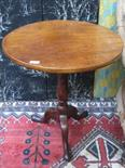 Lot 84 - MAHOGANY TILT TOPPED CIRCULAR TABLE ON TRIPOD SUPPORT