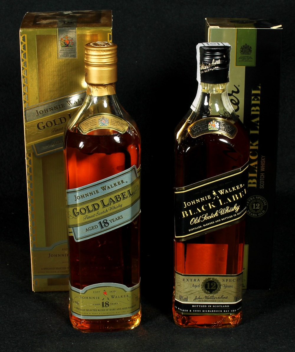 JOHNNIE WALKER Gold Label 18 Year Old Scotch Whisky In
