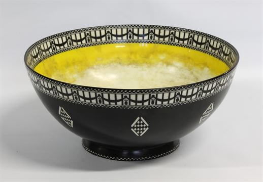 Royal Worcester fruit bowl, the black ground with white \