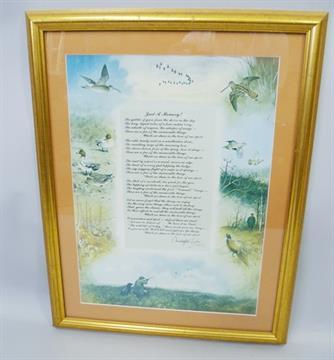 "AFTER CHRISTOPHER CURTIS - ""Just a Memory"" a framed poem ..."