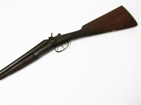 An Antique Double Barrel Shot Gun Nitro Proof Marks Barrel Length 76cm