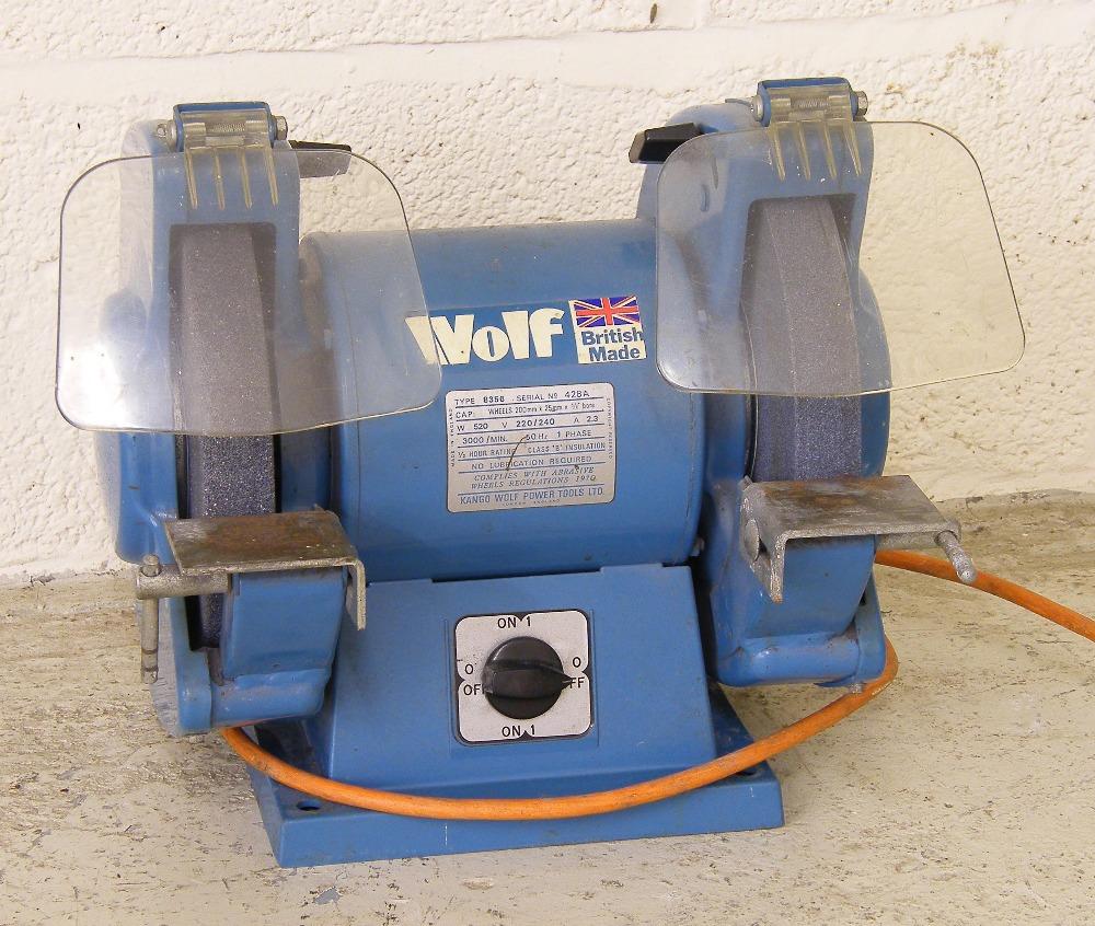 Wolf bench grinder, type 8356, ser. no. 428A