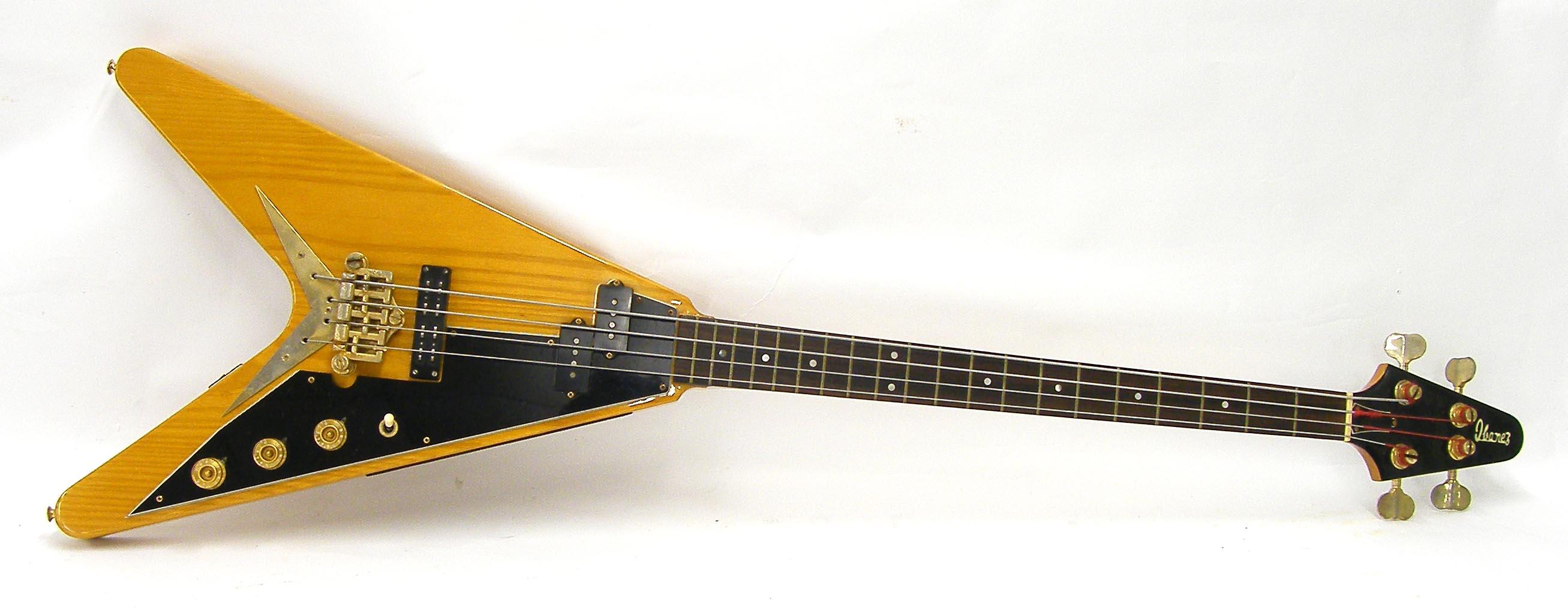 ibanez rocket roll flying v bass guitar made in japan circa 1976 ser no j765456 20 fret ros. Black Bedroom Furniture Sets. Home Design Ideas