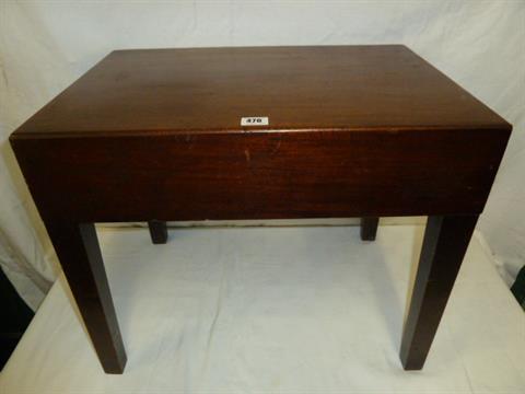Georgian mahogany baby bath or bidet stand