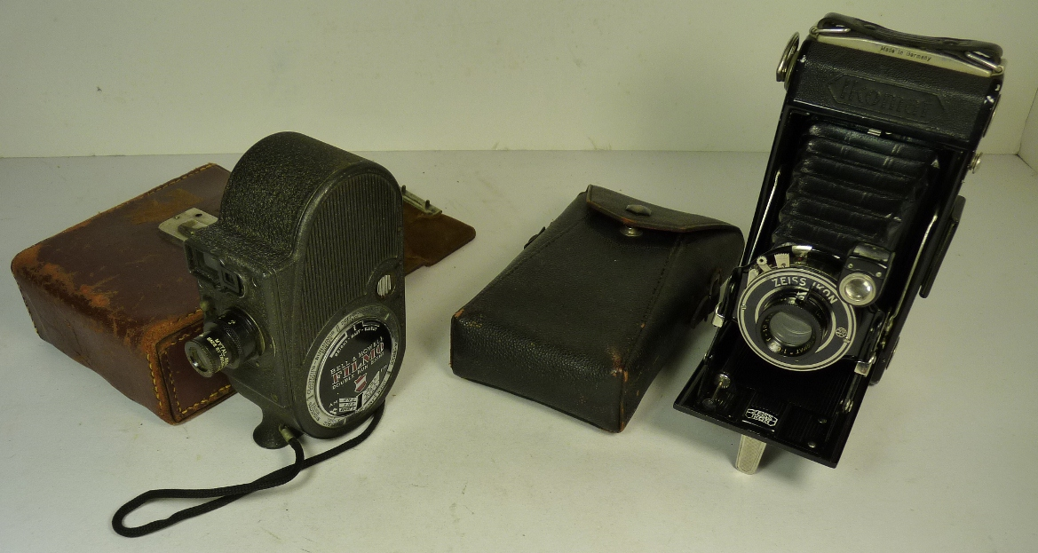 A Zeiss Ikon Ikomat folding camera with Derval shutter and