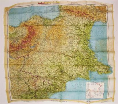 Map Of France Zones.A Wwii Silk Aircrew Escape Map Zones Of France Second Edition