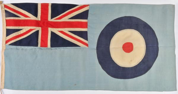 Lot 293 - *RAF. A good original RAF Station ensign-flag, c. 1940s, woven cloth segments sewn and applied