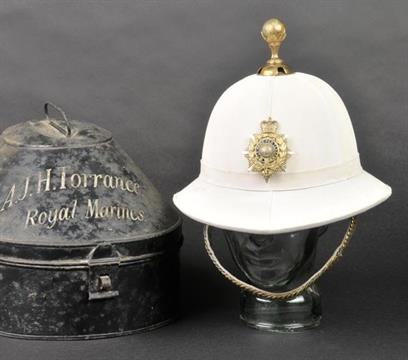 ced79a59c4bdf Royal Marines. A Royal Marines officer s pith helmet with E.II.R ...