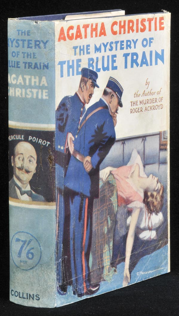 Christie (Agatha). The Mystery of the Blue Train, 1st ed., [1928], original blue cloth lettered in