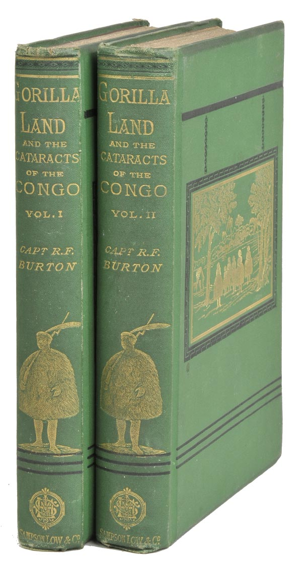 Lot 14 - Burton (Richard F.). Two Trips to Gorilla Land, and the Cataracts of the Congo, 2 vols., 1st ed.,