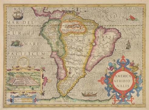 South America  Mercator (Gerard & Hondius Henricus), America