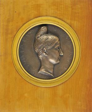 Pasta (Giuditta, 1797-1865)  A bronze medal profile portrait