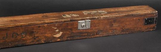 Fishing Box A Large Wooden Fishing Rod Box C1900 Stained Pine