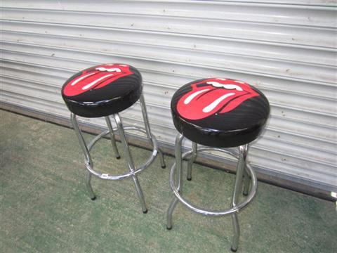 & Pair of Rolling Stones hot lips bar stools islam-shia.org
