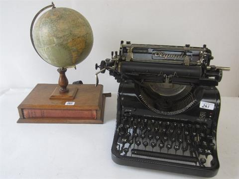 1938 Olympia typewriter model 8, together with Philips British