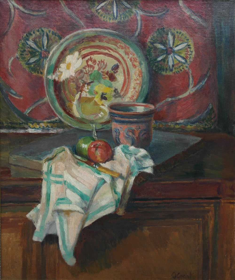 Lot 246 - Duncan Grant (British, 1885-1978): Still life with Italian Handkerchief, the studio, Charleston,