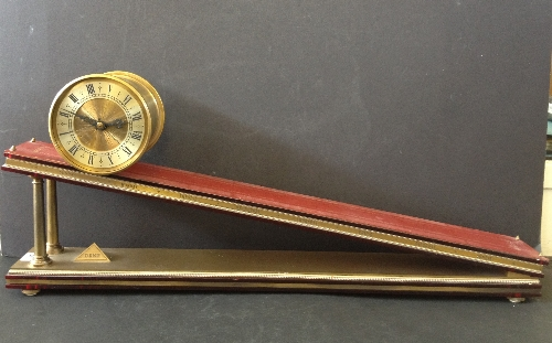 Lot 310 - E Dent and Co: An English brass inclined plane timepiece by Andrew Fell, circa 1973, signed Dent