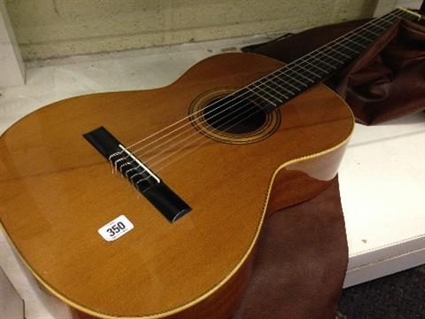 A good quality Spanish Goya six string guitar by Francisco