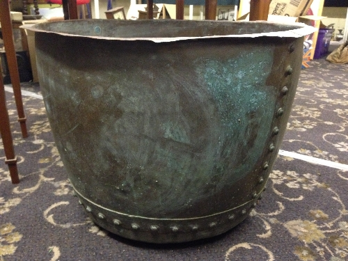 A large 19th century copper water container tank for Copper water tank