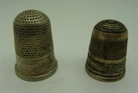 Dating silver thimbles