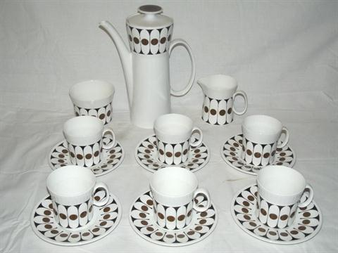A Hostess tableware  Black velvet  pattern coffee set shape and design by John Russell comprisi  sc 1 st  The Saleroom & A Hostess tableware