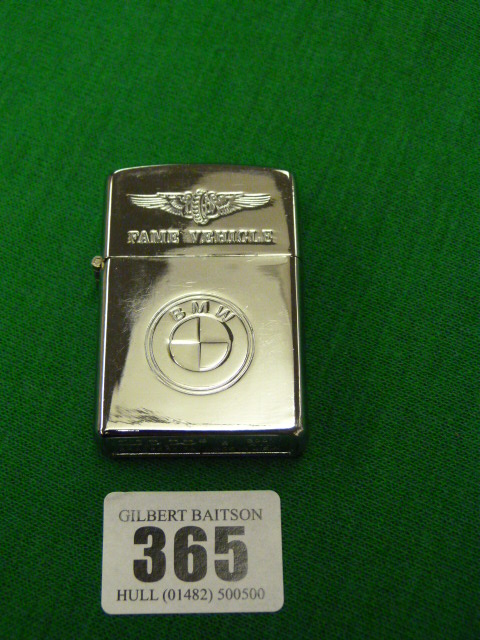 Zippo Lighter With Bmw Fame Vehicle Motif