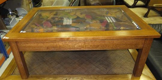 A Modern William Herrick Trout Stream Oak Coffee Table The Glazed - Trout stream coffee table
