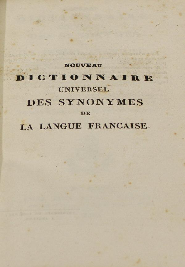 M f guizot nouveau dictionnaire universel de synonymes de - Office de la langue francaise dictionnaire ...