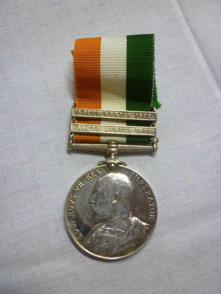 Lot 651 - A Kings South Africa medal with two bars awarded to No. 5101 Pte. C. Ralph Inniskilling Dragoons (
