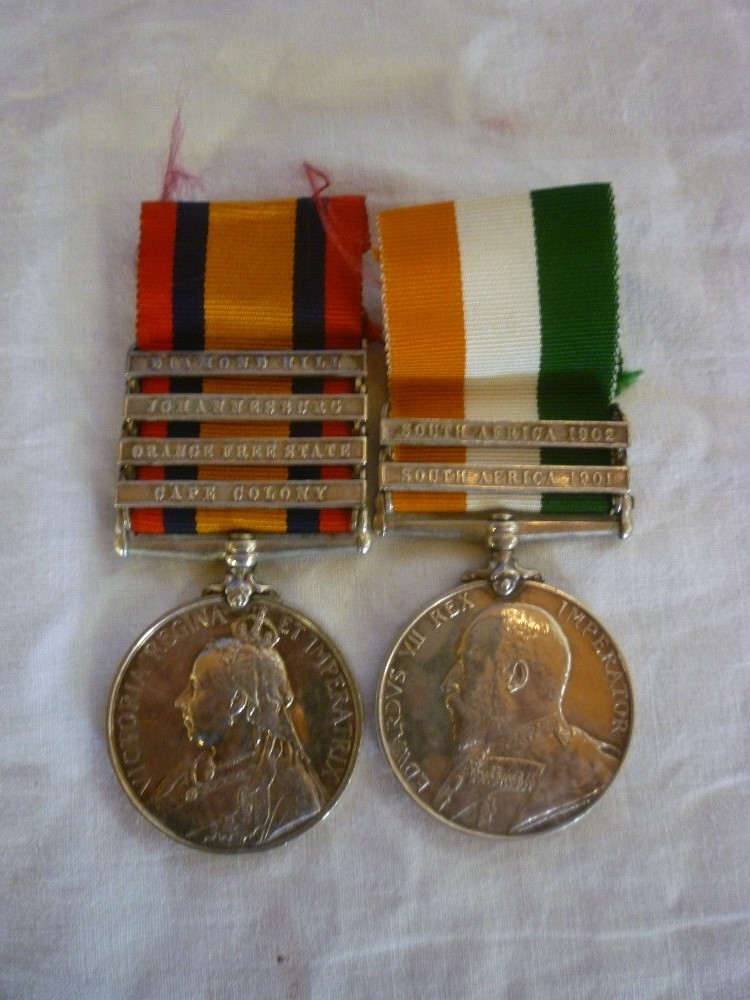 Lot 582 - A Queens South Africa/Kings South Africa medal pair awarded to No. 5101 Pte. C. Ralph 6th