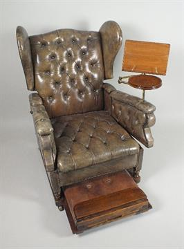Phenomenal A Victorian Foots Patent Leather Reclining Reading Chair Caraccident5 Cool Chair Designs And Ideas Caraccident5Info