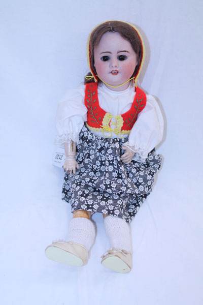 Lot 3120 - Doll - bisque head marked - S. F. B. J. 60. Paris 2 / 0, sleeping eyes, top four teeth showing,